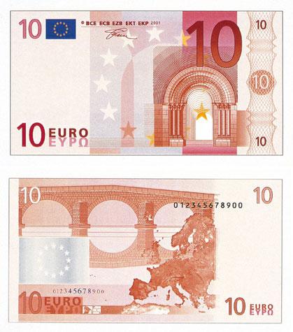 10 Euron Seteli