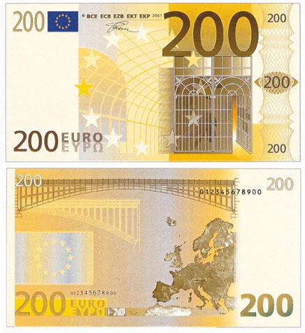 200 Euron Seteli